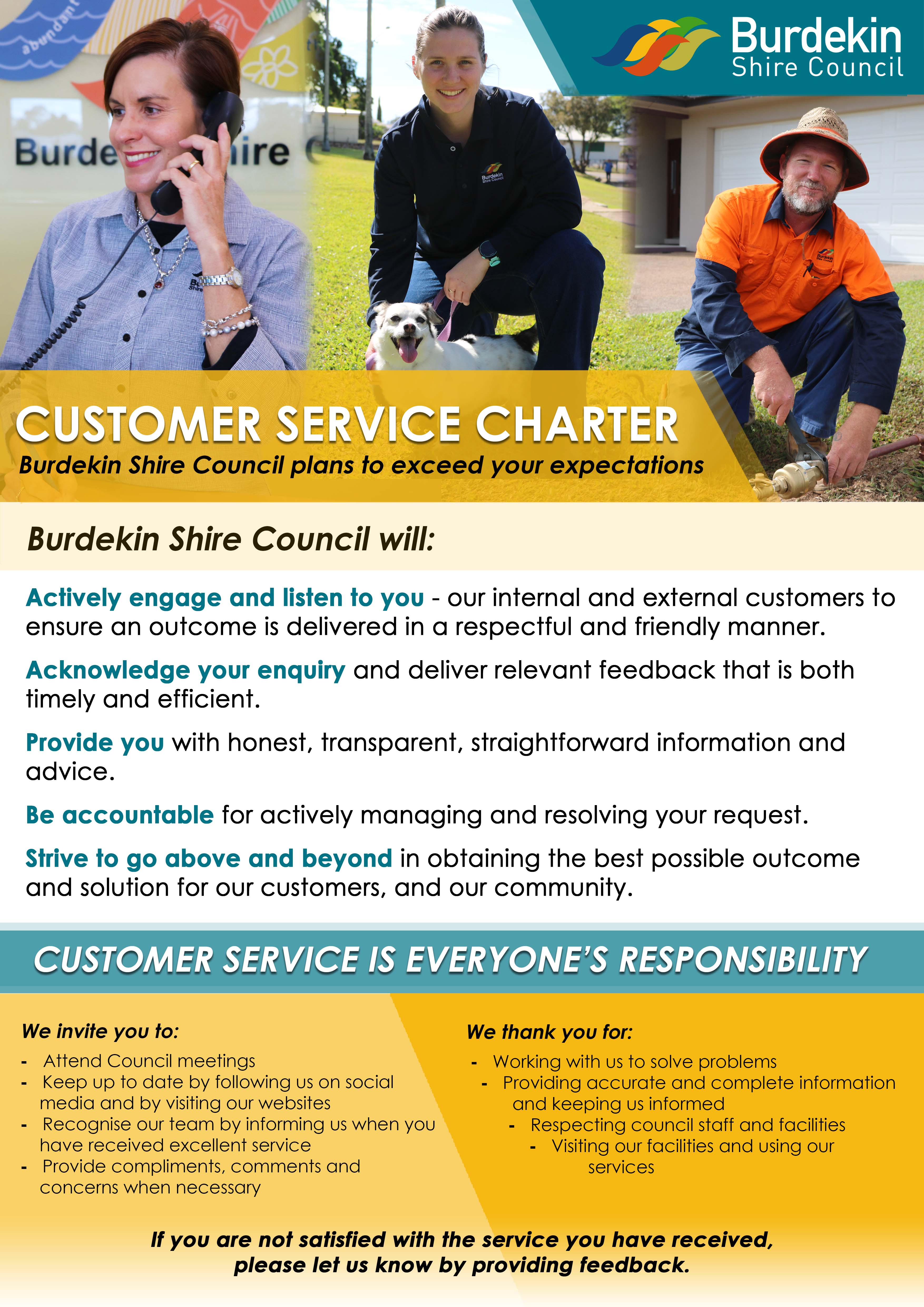 Burdekin Shire Council Customer Service Charter