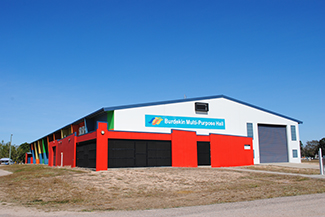 Photo of the outside of the Burdekin Multipurpose Building