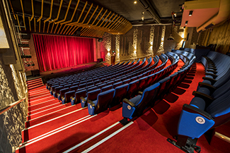 Photo of inside the auditorium of the Burdekin Theatre