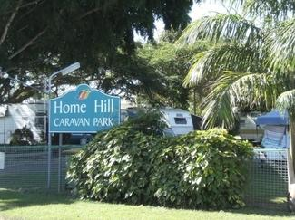 home hill caravan park sign