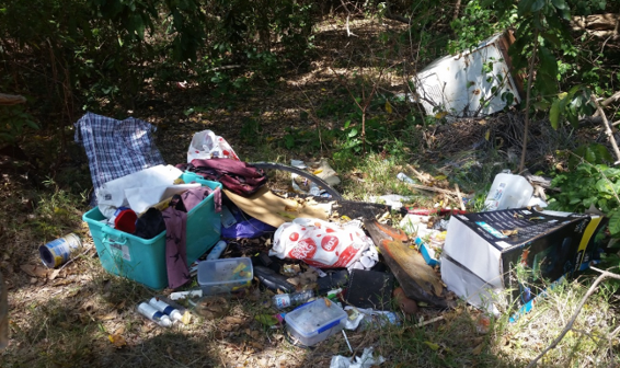 Photograph showing an example of illegal dumping in our region