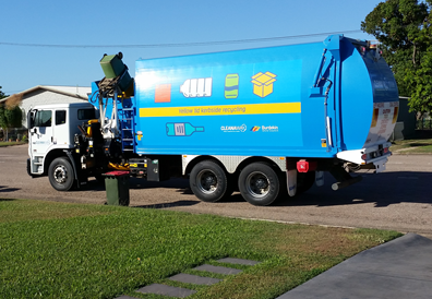 Photograph of truck performing kerbside collection