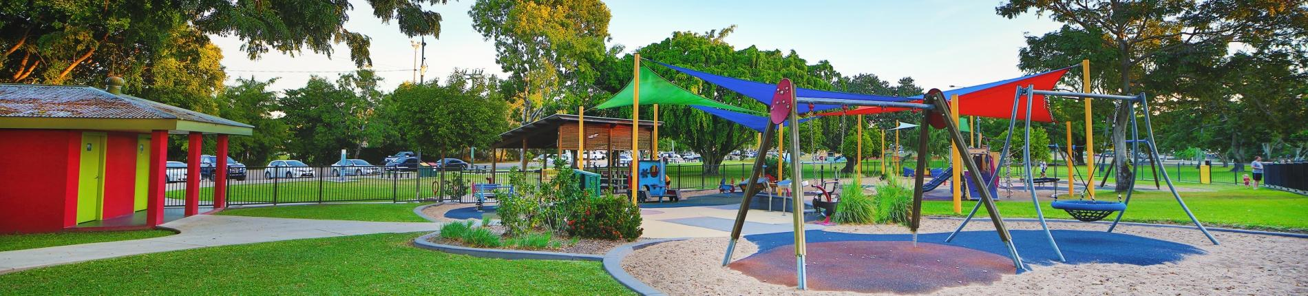Play equipment at Ayr Anzac Memorial Park playground
